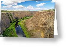Crooked River Canyon Greeting Card