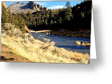 Crooked River December Morning Greeting Card