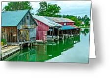 Crooked River Marina Greeting Card