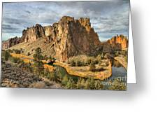 Crooked River Towers Greeting Card