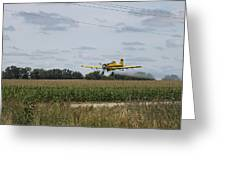 Crop Dusting 2 Greeting Card by Victoria Sheldon