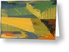 Crop Fields Greeting Card by Erin Fickert-Rowland