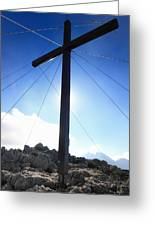 Cross At Capu Di A Veta Near Calvi In Corsica Greeting Card