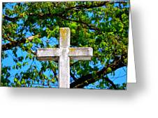 Cross At The Monastery Of The Holy Spirit Greeting Card