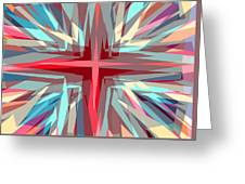 Cross Burst Greeting Card