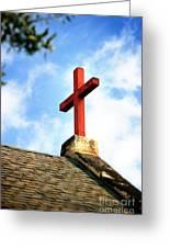 Cross Church Roof Greeting Card