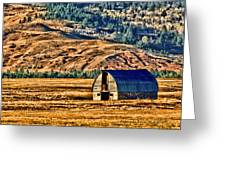 Cross Country Deserted Greeting Card by Rebecca Adams