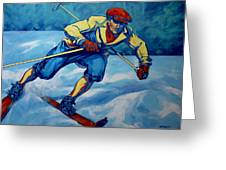 Cross Country Skier Greeting Card