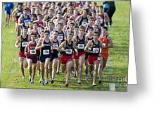 Cross County Race Greeting Card