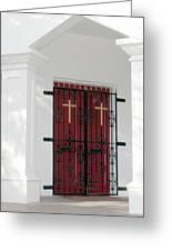 Key West Church Doors Greeting Card