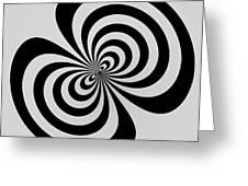 Cross Eyed Greeting Card