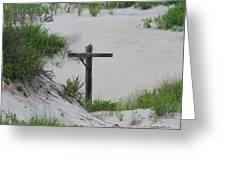 Cross In The Dunes Greeting Card