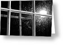 Cross In Window Greeting Card