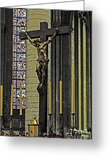 Cross Of Rouen Cathedral Greeting Card