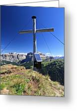 cross on Crepa Neigra peak Greeting Card