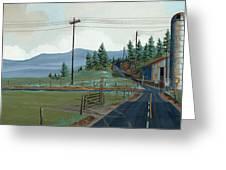 Cross Roads Greeting Card by John Wyckoff