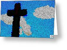 Cross Stained Glass Greeting Card