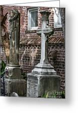 Cross Tombstone Greeting Card