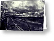 Crossed Tracks Greeting Card
