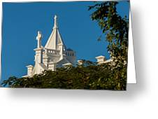 Crosses Above The Trees Greeting Card