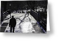 Crossing Over - Central Park - Nyc Greeting Card