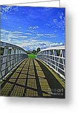 Crossing Over Bridge Greeting Card