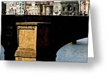 Crossing The Arno Greeting Card