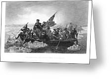 Crossing The Delaware Greeting Card by Granger