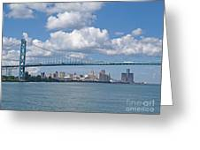 Crossing The Detroit River Greeting Card