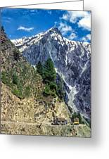 Crossing The Himalayas Greeting Card