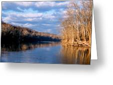 Crossing The River On Low Water Bridge Greeting Card