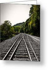 Crossing Tracks Greeting Card