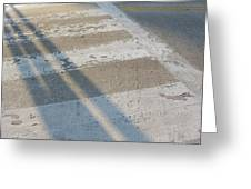 Crosswalk Shadow 2 Greeting Card