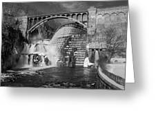 Croton Dam Bw Greeting Card by Susan Candelario