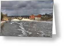 Croton Dam Flood Greeting Card