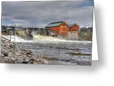 Croton Dam Greeting Card