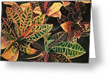 Croton Leaves Greeting Card