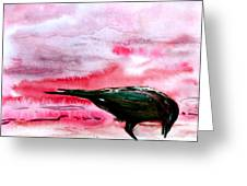 Crow At Dawn Greeting Card