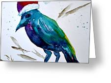 Crow Ho Ho Greeting Card