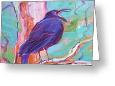 Crow In The Tree 3 Greeting Card