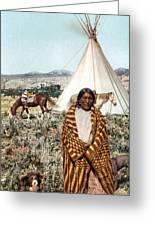 Crow Indian 1902 Greeting Card