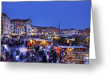 Crowd In Venice Greeting Card