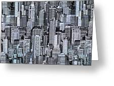 Crowded City Greeting Card