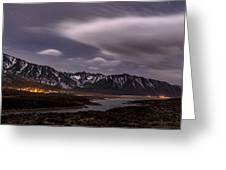 Crowley Lake At Night Greeting Card