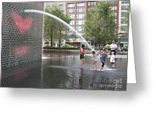 Crown Fountain Play Greeting Card