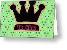 Crown In Pop Art Greeting Card by Tommytechno Sweden