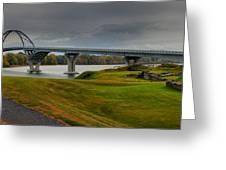Crown Point Lake Champlain Panorama Greeting Card