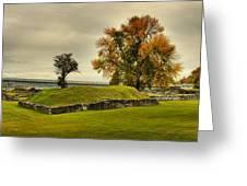 Crown Point Panorama Of The New Lake Champlain Bridge Greeting Card