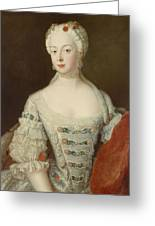 Crown Princess Elisabeth Christine Von Preussen, C.1735 Oil On Canvas Greeting Card