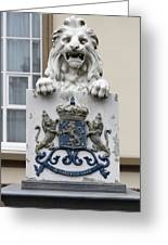 Crowned Lion  Greeting Card